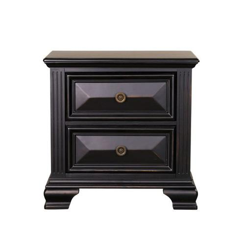 Passages 2-Drawer Nightstand, Vintage Black