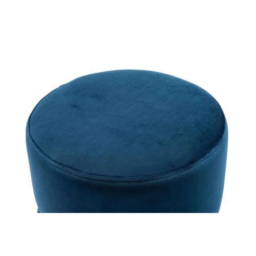 Tov Furniture - Yamma Navy Velvet Ottoman