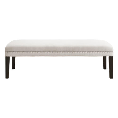 Upholstered End of Bed Bench in Warm Gray