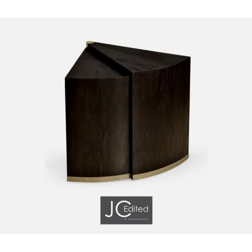 Dark Ale Semicircular Retracting Side Table