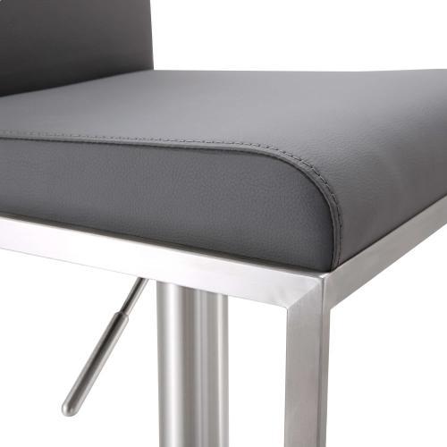 Amalfi Grey Stainless Steel Barstool