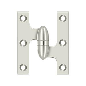 "Deltana - 3"" x 2-1/2"" Hinge - Polished Nickel"