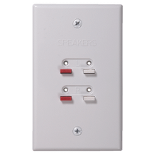 See Details - Speaker Wire Wall Plate - White