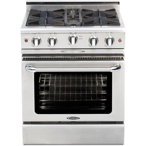 """View Product - 30"""" Gas Range with 4 Open Burners 25K BTU"""