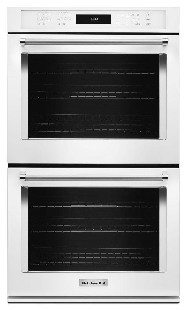 """Kitchenaid30"""" Double Wall Oven With Even-Heat™ True Convection - White"""
