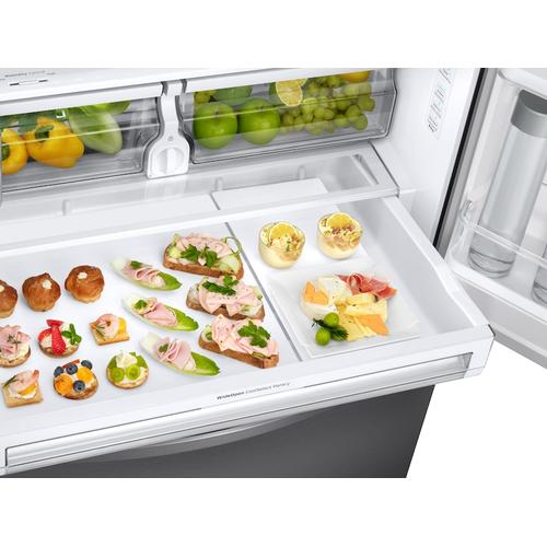 28 cu. ft. 3-Door French Door, Full Depth Refrigerator with Dual Ice Maker in Stainless Steel