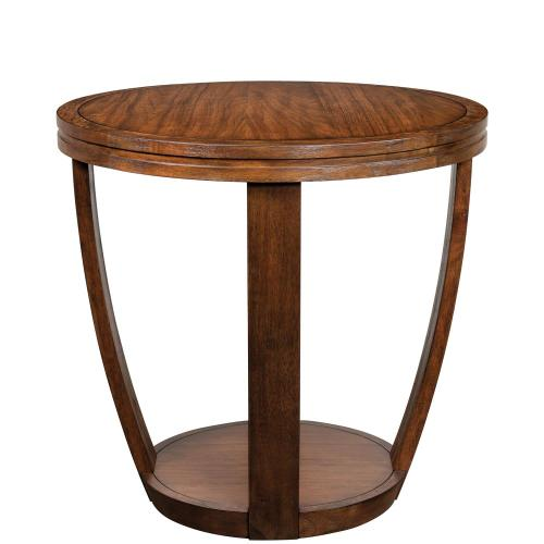 Round Side Table - Portobello Finish