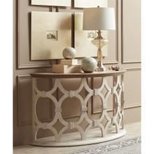 View Product - Elizabeth - Demilune Sofa Table - Smokey White/antique Oak Finish