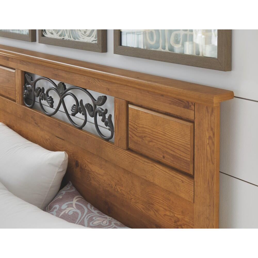 Queen/full Panel Headboard With Mirrored Dresser and 2 Nightstands