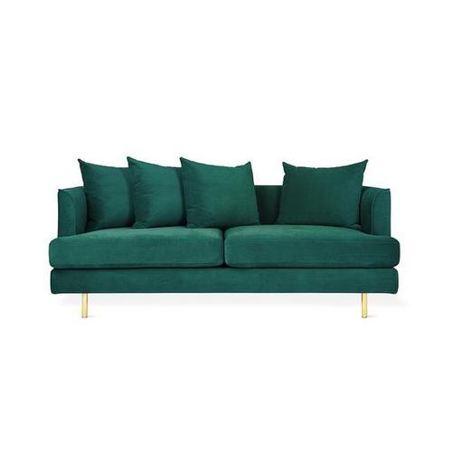 Product Image - Margot LOFT Sofa Velvet Spruce / Brass