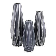 Saffron Metallic Vases - Set of 3