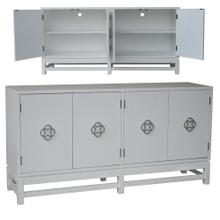 Coventry White 4 Door Sideboard with Brushed Nickel Hardware
