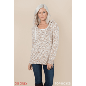 Heathered Hooded Sweater - XS (2 pc. ppk.)