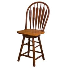 "DLU-B24-NLO  24"" Swivel Barstool  Nutmeg Light Oak"