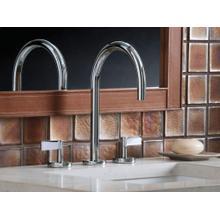 Sink Faucet, Gooseneck Spout, Lever Handles - Nickel Silver