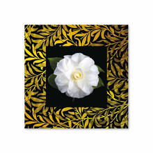See Details - White Camellia With Background Miniature Fine Wall Art