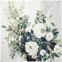 See Details - BLOSSOMING  HAND EMBELLISHED  24in X 24in  Blossoming Bouquet Flower Canvas