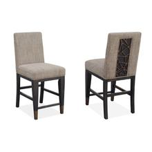 Counter Chair w/Upholstered Seat and Back (2/ctn)