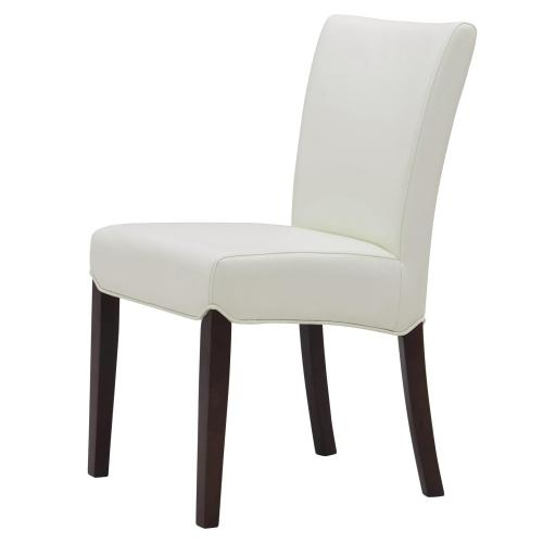 Beverly Hills Bonded Leather Chair, White