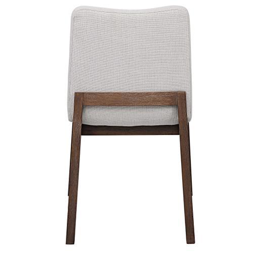 Delano Armless Chair, Walnut, 2 PER BOX