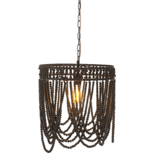 See Details - Oval Frame Black Beaded Chandelier. 60W Max. Hard Wire Only.