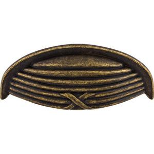 Top Knobs - Ribbon & Reed Cup Pull 3 Inch (c-c) German Bronze
