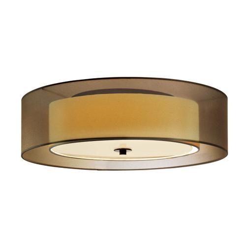 "Sonneman - A Way of Light - Puri Surface Mount [Size=16"", Color/Finish=Black Brass w/Bronze Shade, Base Type=Medium Base]"