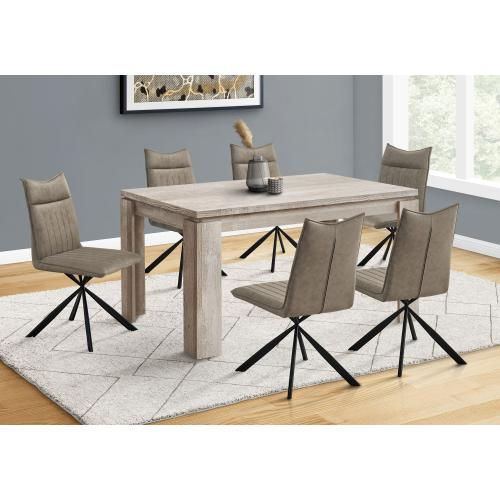 """Gallery - DINING TABLE - 36""""X 60"""" / TAUPE RECLAIMED WOOD-LOOK"""