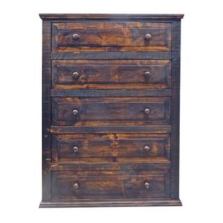 See Details - Med Wax 5 Drw Chest Wood Knobs