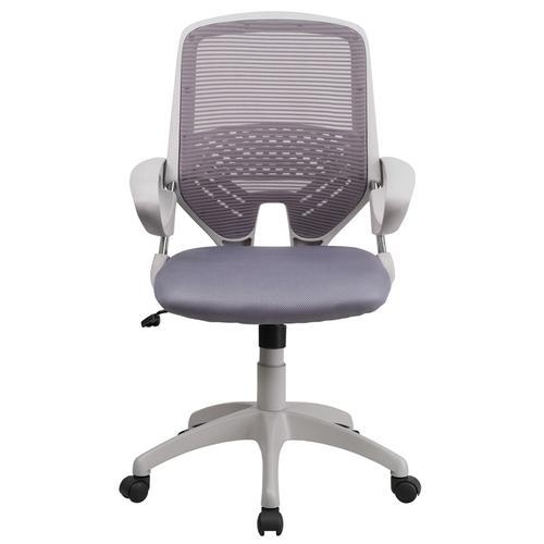 Mid-Back Dark Gray Mesh Swivel Task Chair