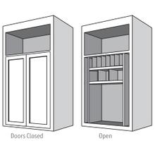 View Product - Desk Top Unit, 2-Doors with Increased Height & Depth with Pocket Doors