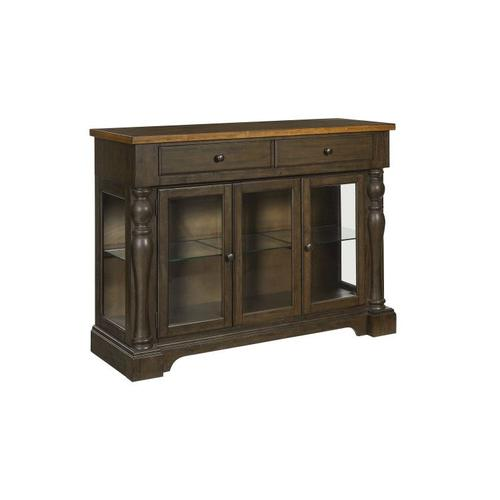 Standard Furniture - Dunmore Sideboard, Light Toffee Top with Brown Base