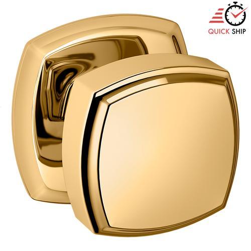 Baldwin - Lifetime Polished Brass 5011 Estate Knob with 5058 Rose