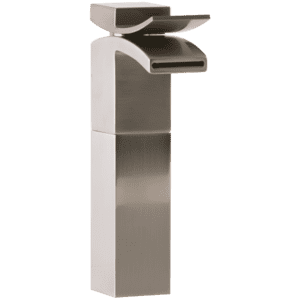 Quarto Vessel Lav Faucet Front Flow Brushed Nickel Product Image