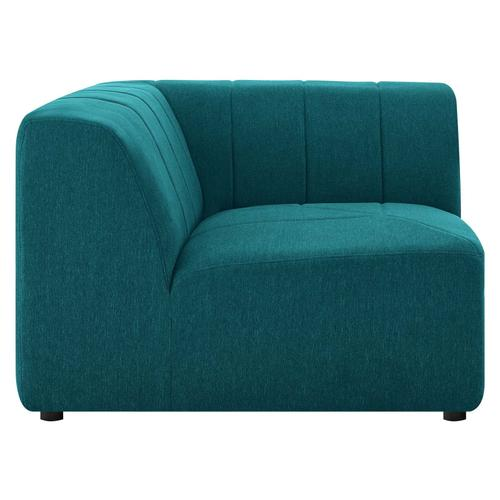 Bartlett Upholstered Fabric Corner Chair in Teal
