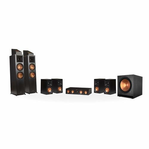 Klipsch - RP-8000F 7.1.2 Dolby Atmos® Home Theater System - Ebony