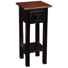 See Details - Cottage Side Table - Antique Black with Raftwood Top