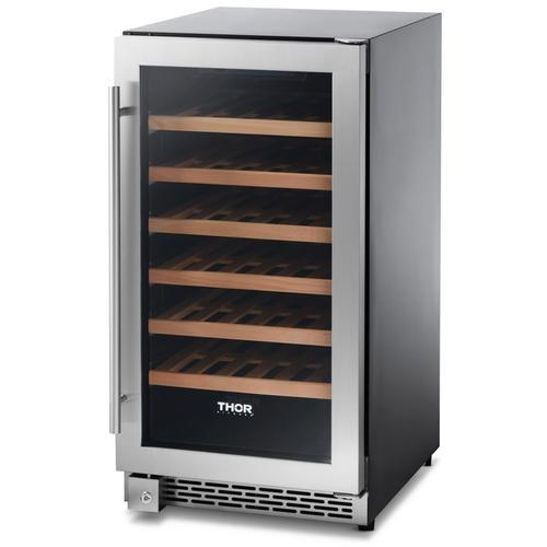 18 Inch Single Zone Built-in/freestanding Wine Cooler, 40 Wine Bottle Capacity