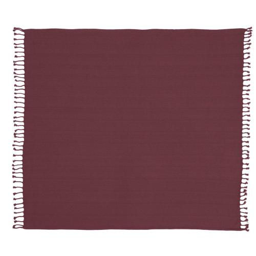 "Throw Ss905 Burgundy 50"" X 60"" Throw Blanket"