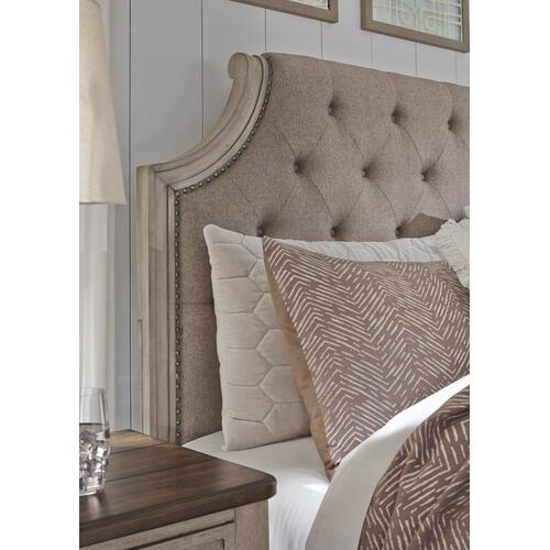Falkhurst California King Upholstered Panel Bed