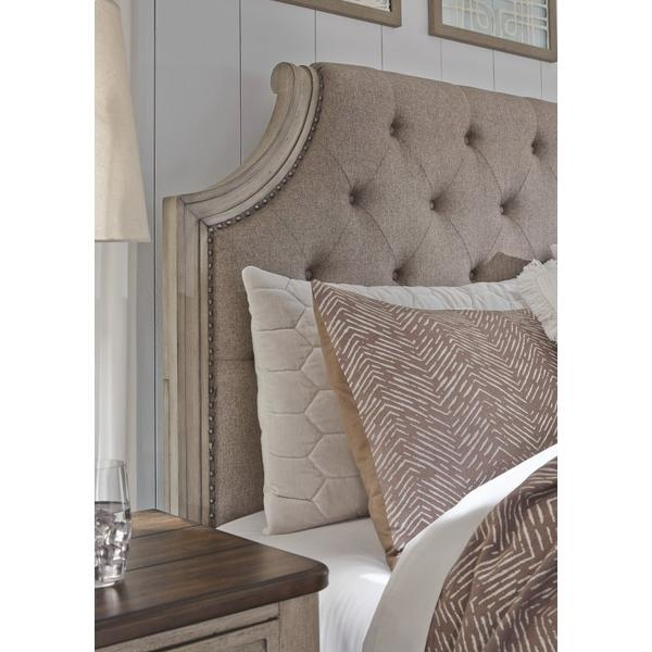 Falkhurst King Upholstered Panel Bed