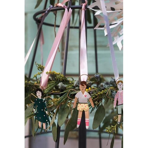 "4""H White Little Angel Ornament (Boy Option)"