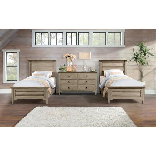 Myra - Twin Bed Rails - Natural Finish