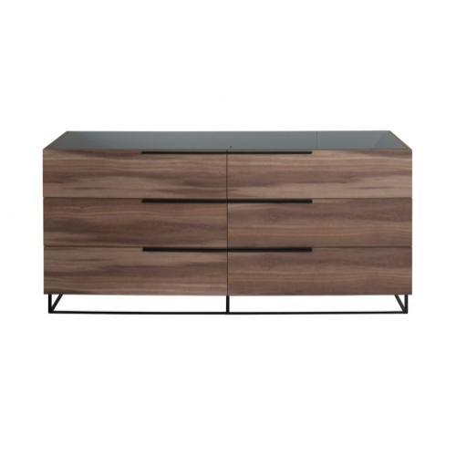 Nova Domus Matteo - Modern Italian Walnut Dresser