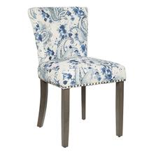 Kendal Dining Chair In Paisley Blue