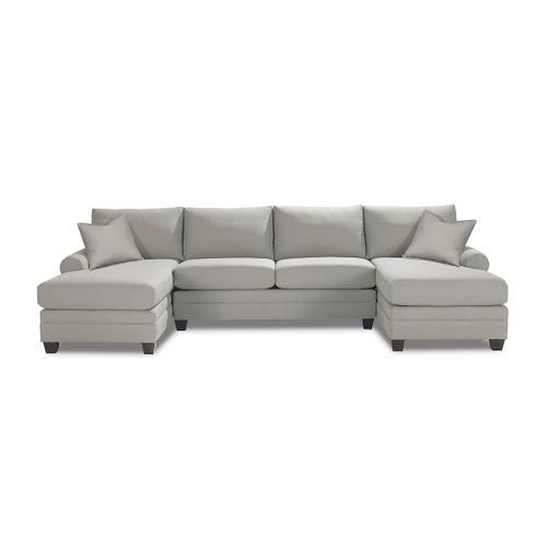 Bassett Furniture - Carolina Sock Arm Double Chaise Sectional