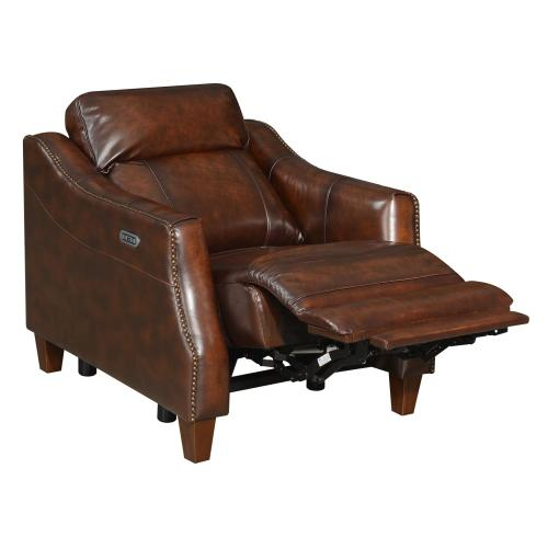 Akari Dual-Power Leather Recliner