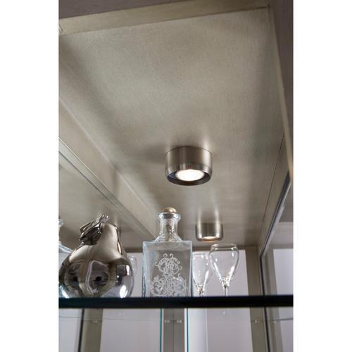 Pulaski Furniture - Antique Style 5 Shelf Mirrored Curio Cabinet in Aged Silver