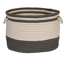 "Bar Harbour Basket BH41 Gray 14"" X 10"""
