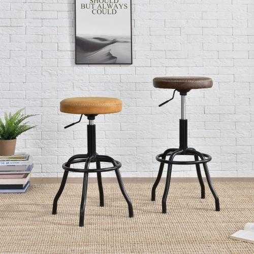 Eaton KD Gaslift Bar Stool, Vintage Coffee Brown